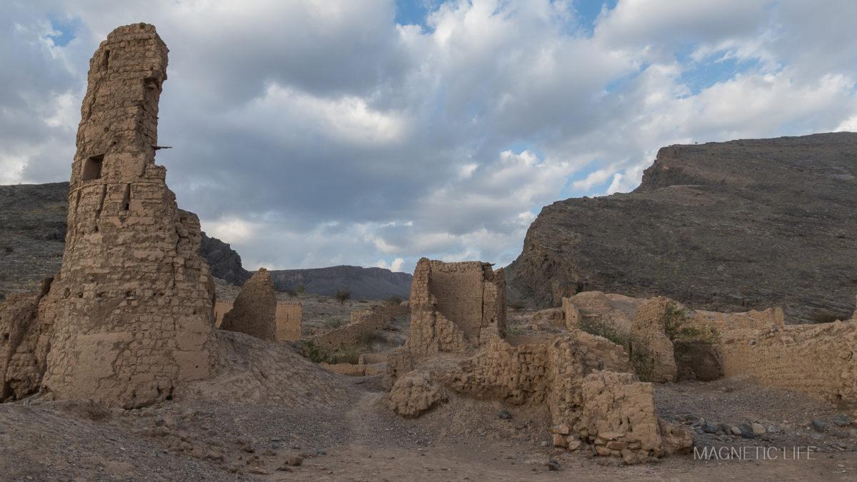 Zbombardowana wioska Tanuf