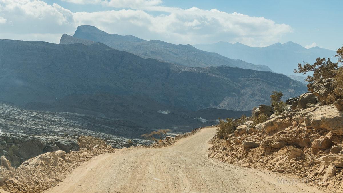 droga szutrowa przezgóry Al Hadżar