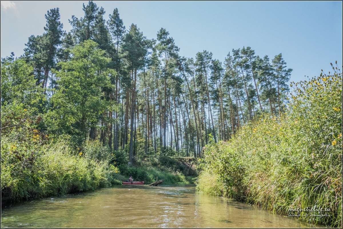 spływ Wieprzem Obrocz - zalew Rudka