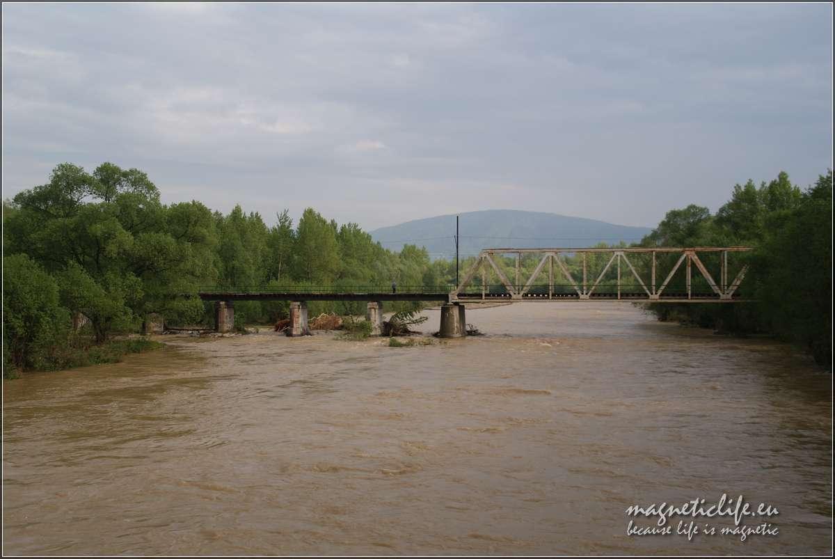 Wezbrane wody Soły podczas powodzi w2010 roku