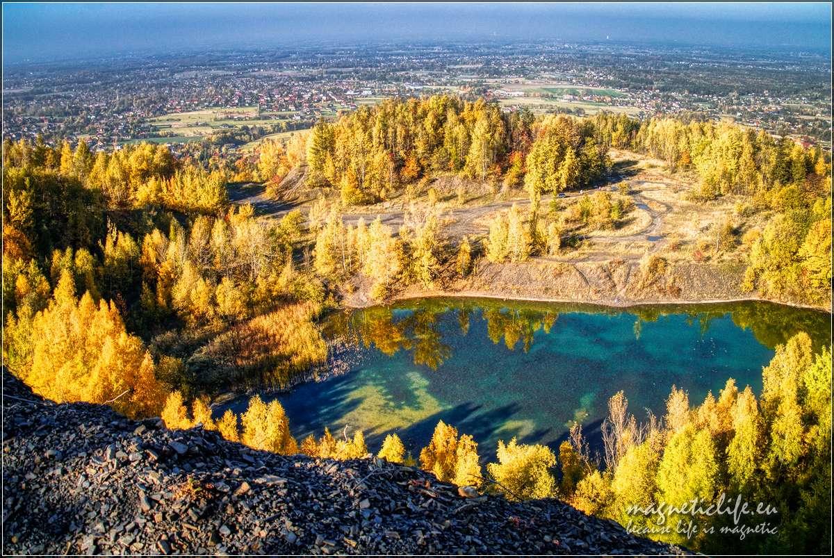 Widok zkamieniołomu wKozach, nahoryzoncie Śląsk