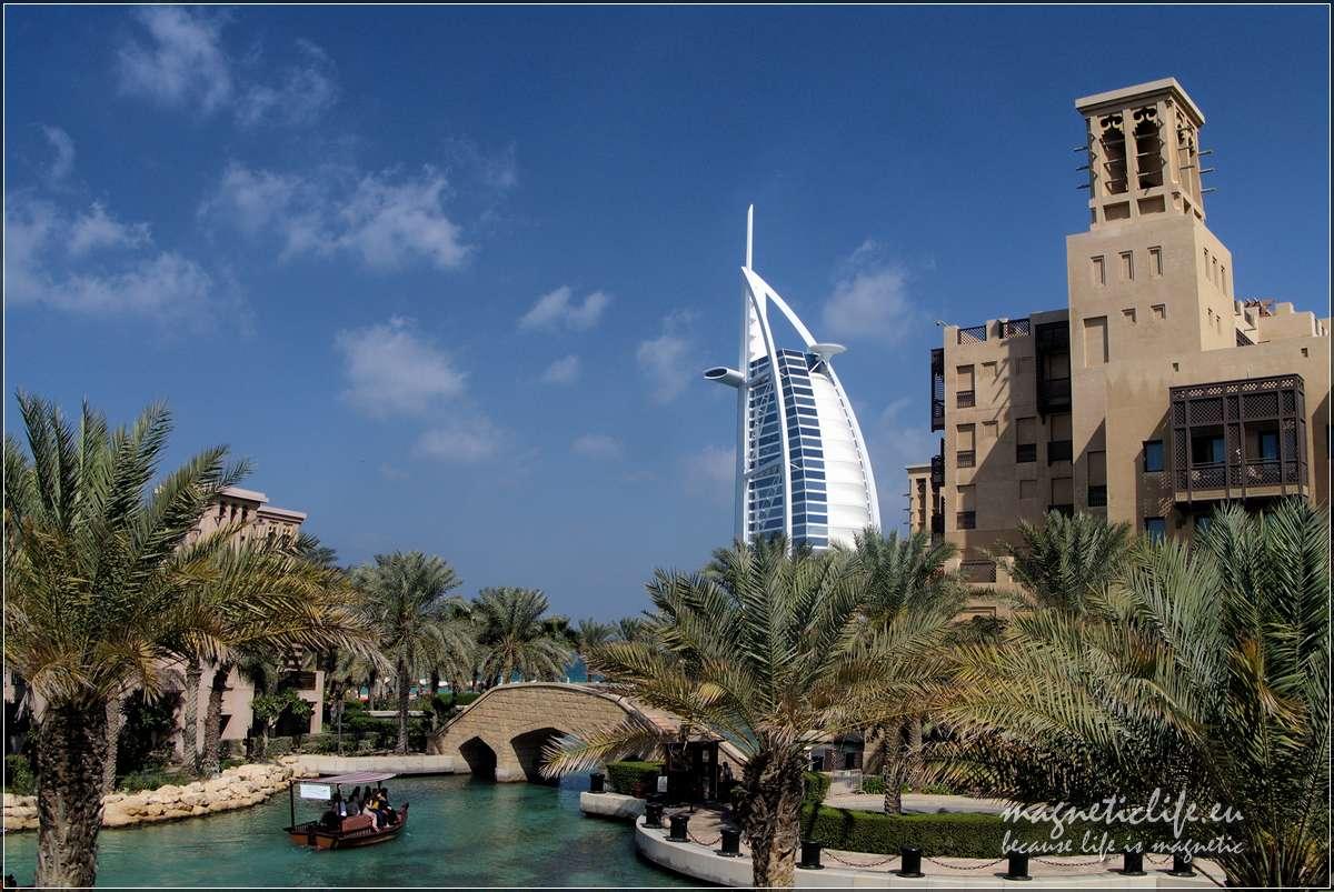 Burj Al Arab widziany zMadinat