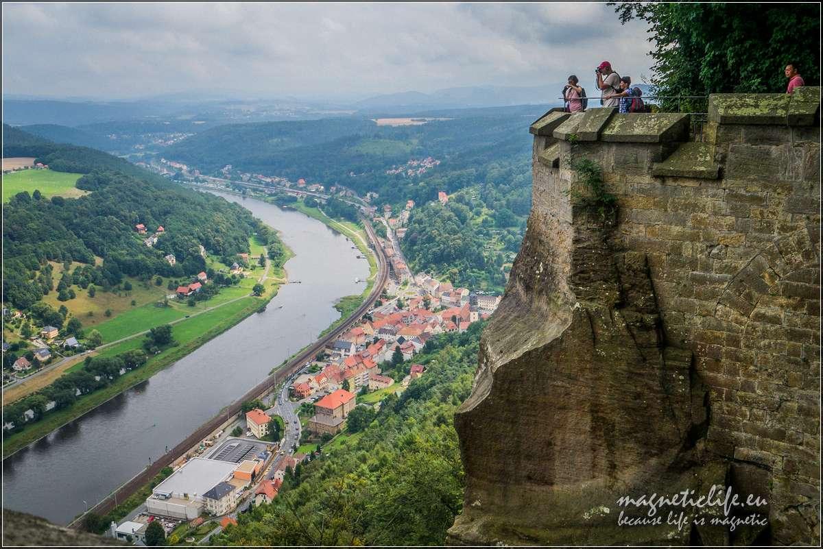 Twierdza Königstein widok naŁabę