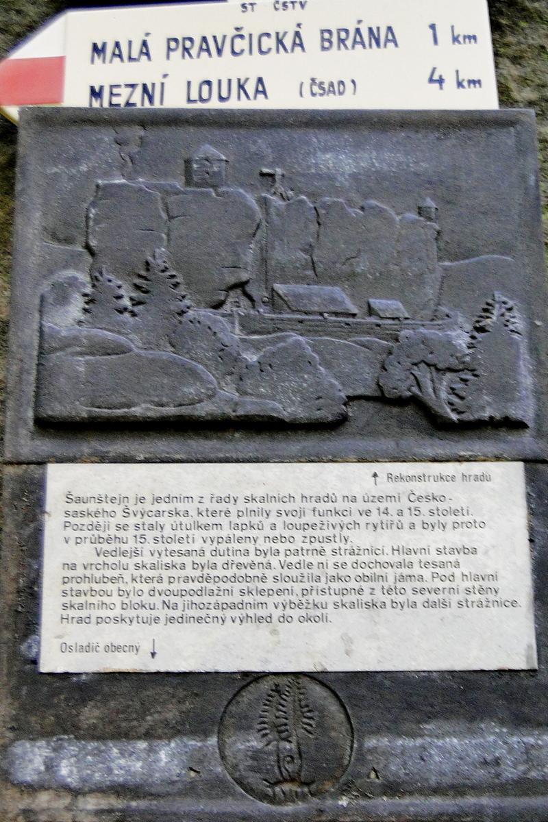 Zamek Šaunštejn Tablica