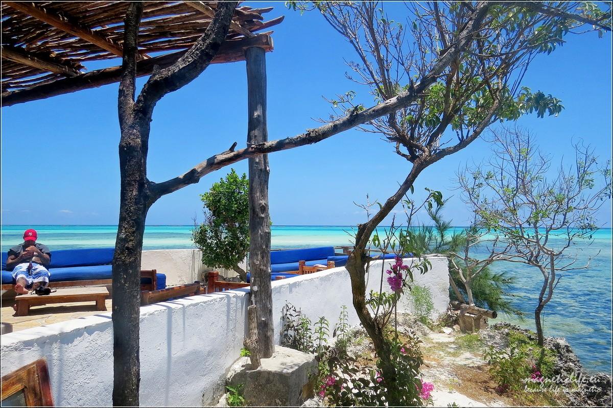 The Rock wschodnie wybrzeże Zanzibaru taras