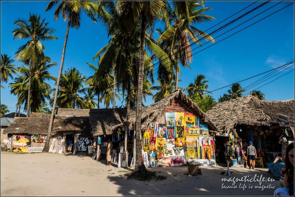 Wschodnie wybrzeże Zanzibaru. Targ wPaje