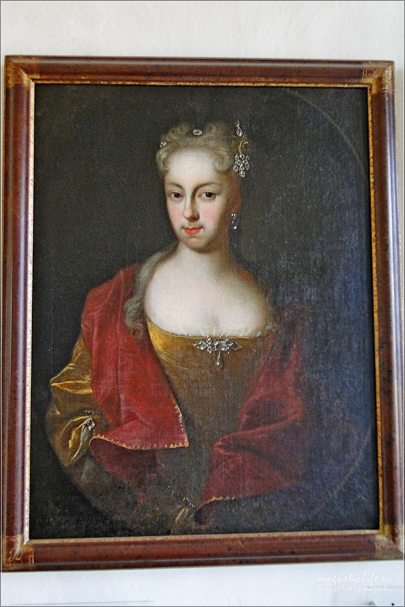 Zamek Stolpen ihrabina Cosel. Portret