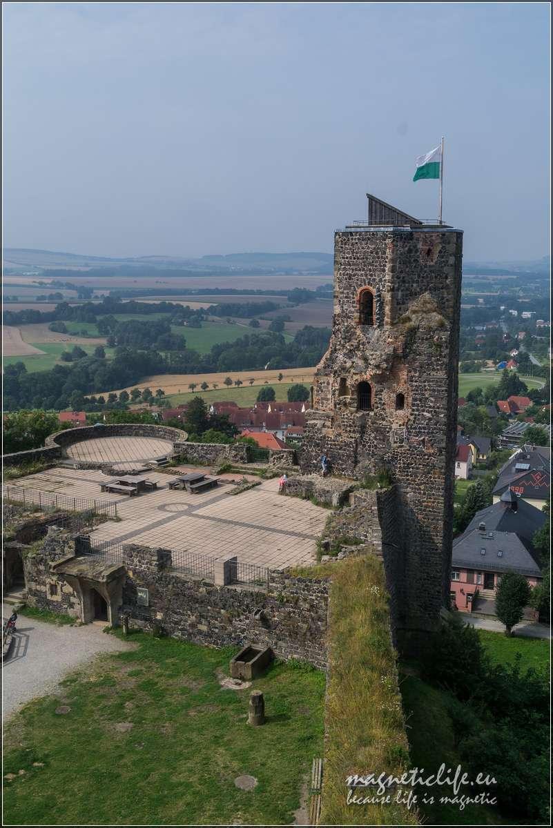 Zamek Stolpen ihrabina Cosel. Wieża obronna