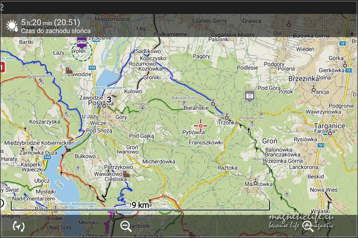 Trzonka Locus Map