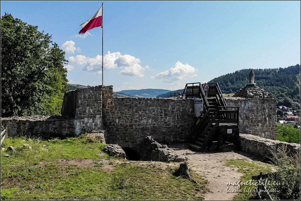 Pozostałości wieży zamkowej