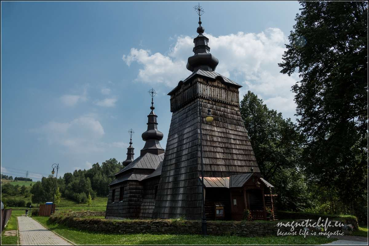 Atrakcje turystyczne wokół Muszyny Szczawnik cerkiew św.Dymitra