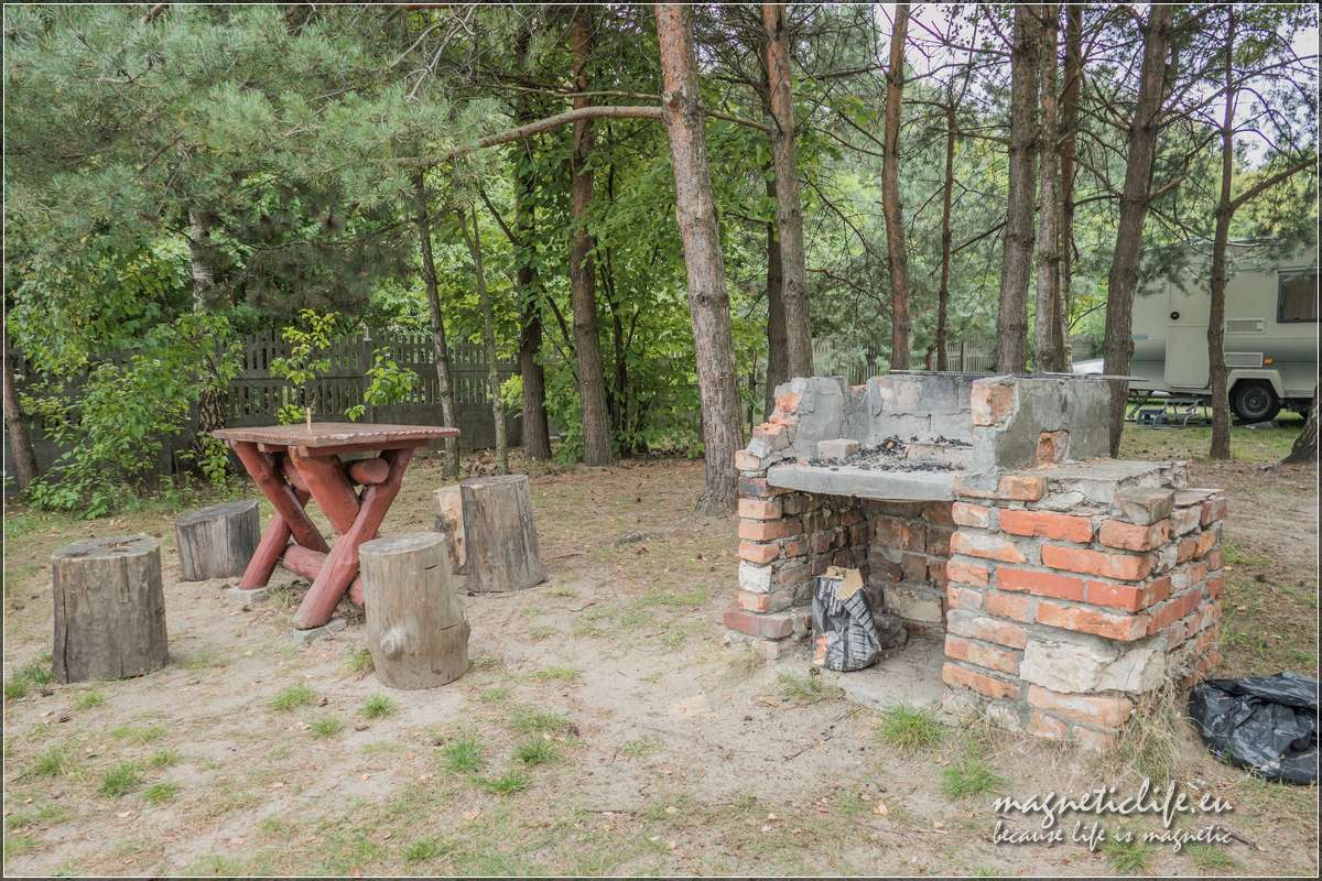 Pole namiotowe Brzozowy Zakątek. Grill