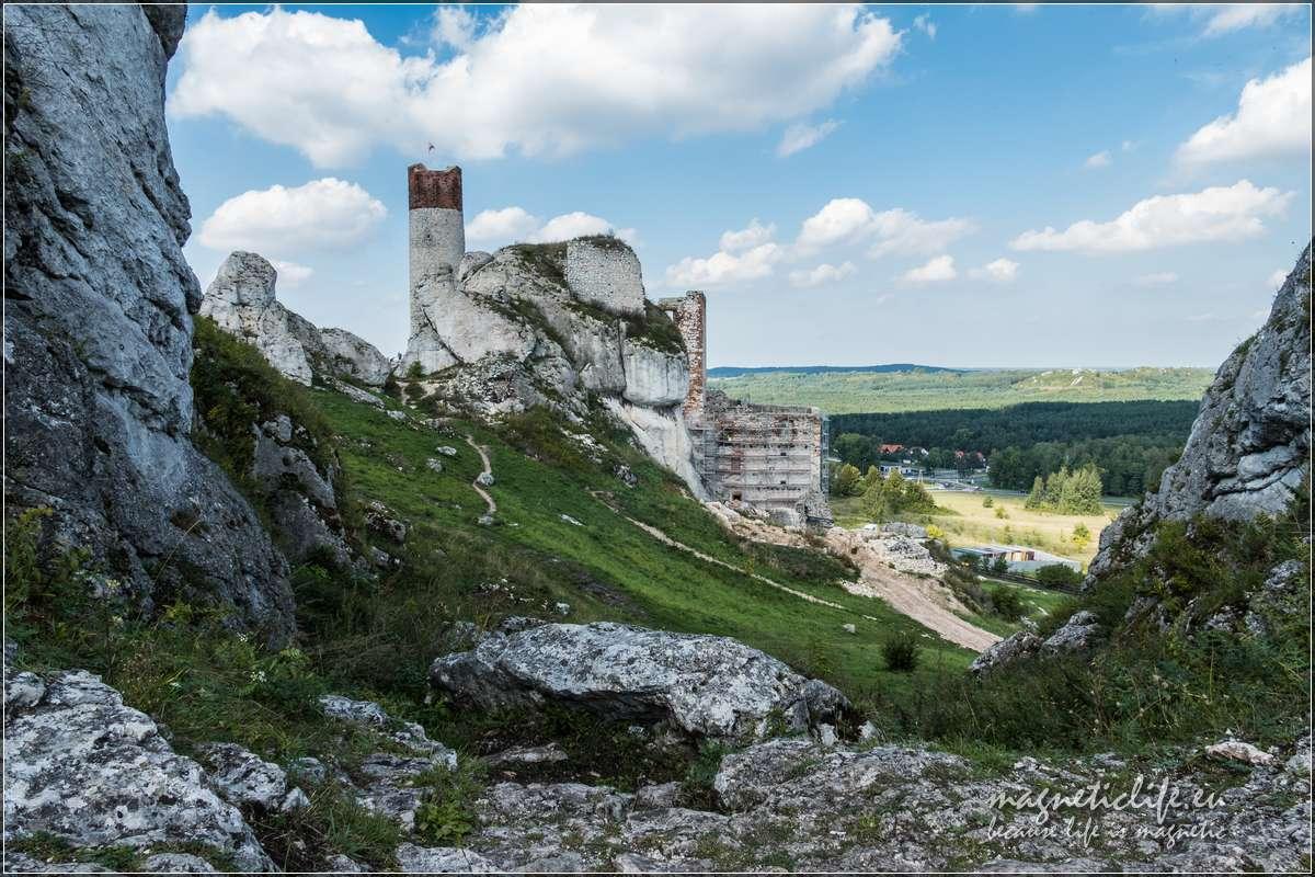 Zamek wOlsztynie robi wrażenie