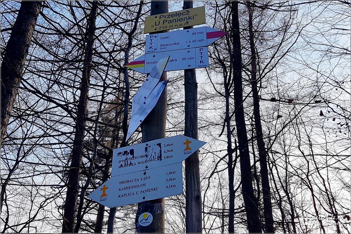 Przełęcz UPanienki szlaki turystyczne
