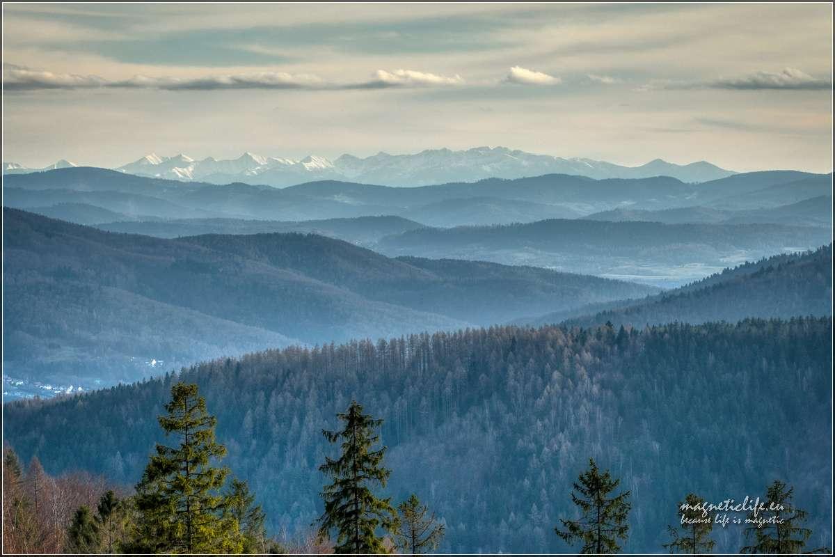 Tatry widziane zHrobaczej Łąki