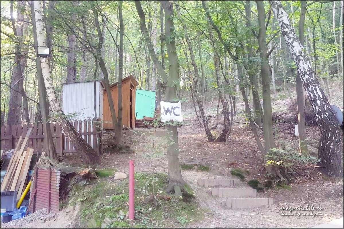 Pole namiotowe Tabaszowa sanitariaty