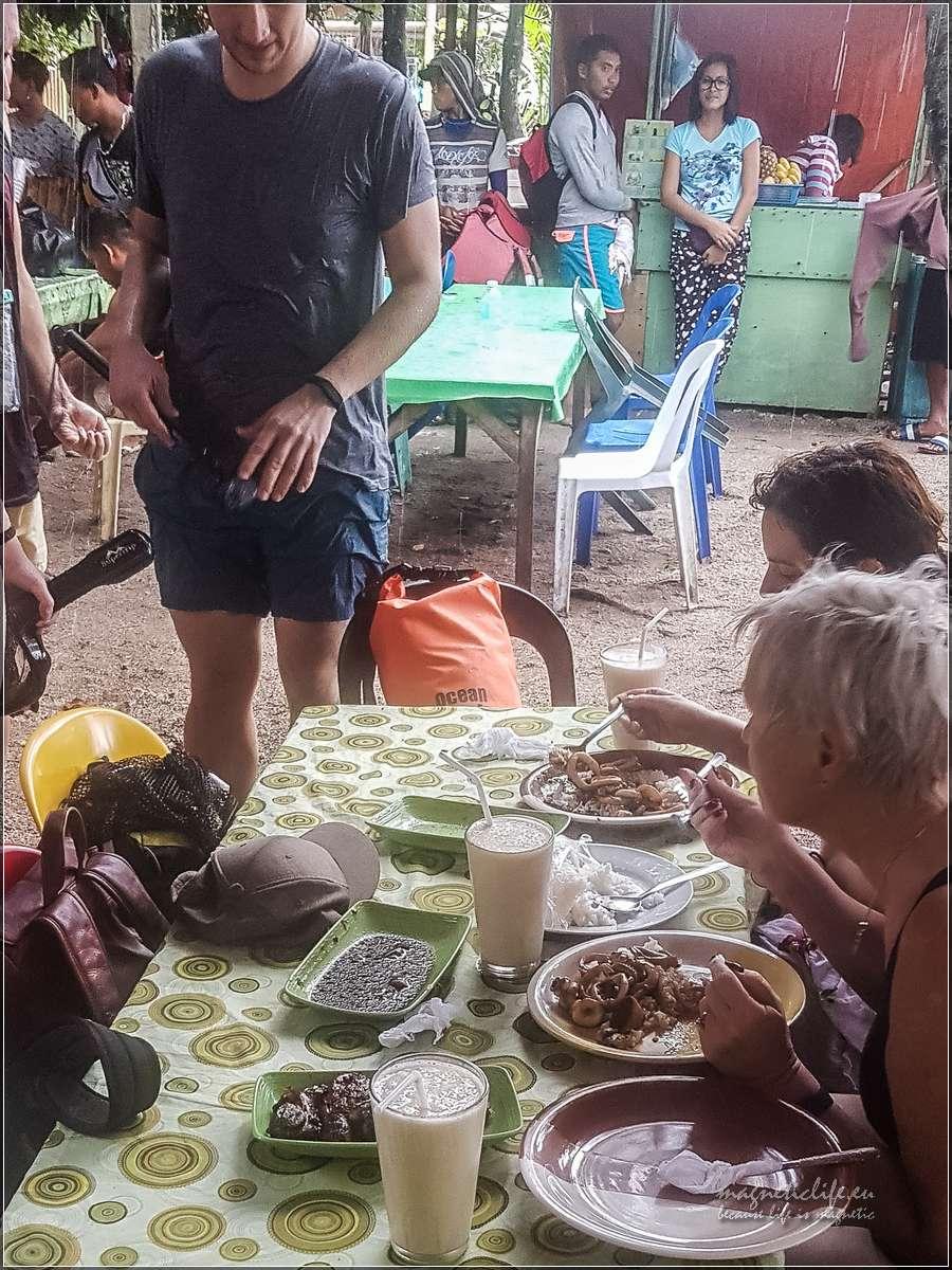Wyspa Balicasag obiad podano