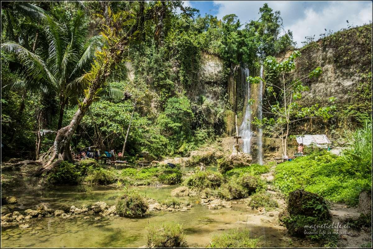Bohol miejsca wypoczynku przy wodospadzie