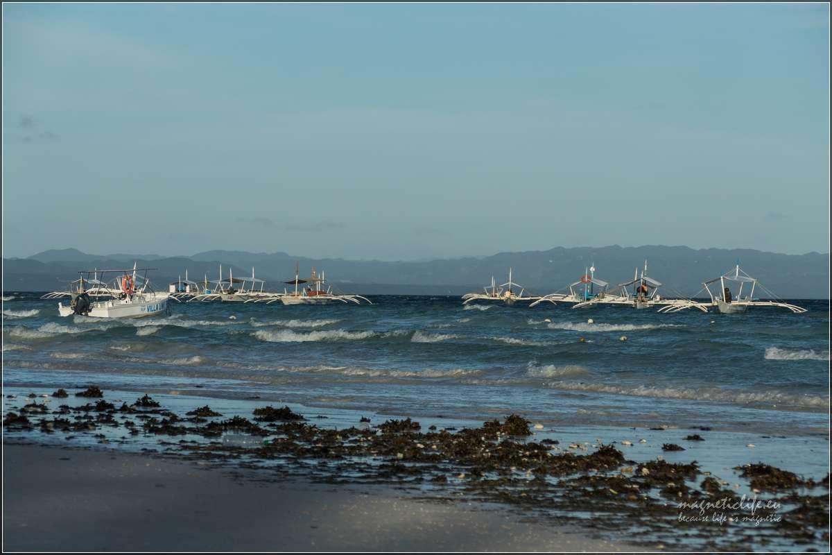 Panglao łodzie czekają