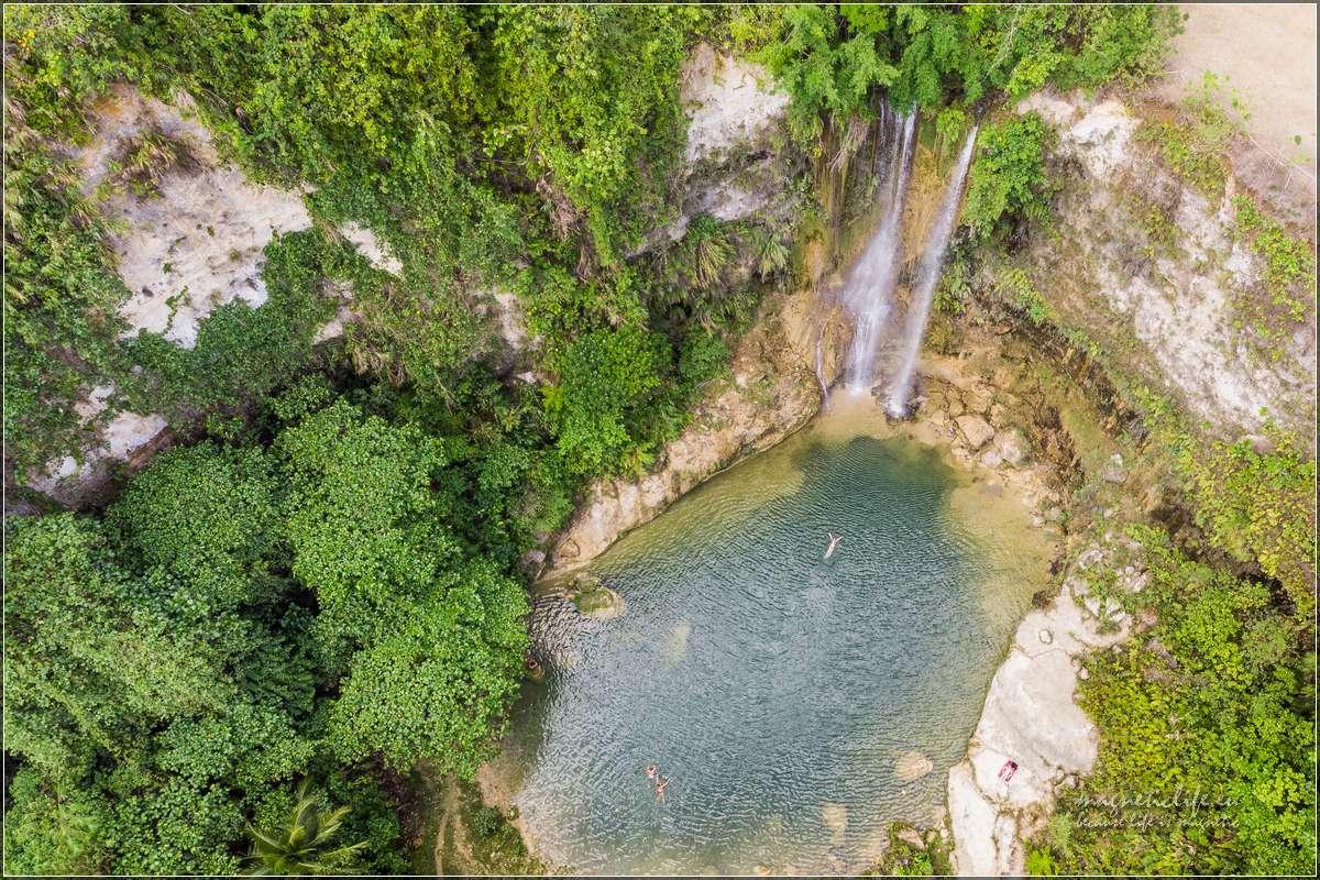 Wodospad Camugao zgóry